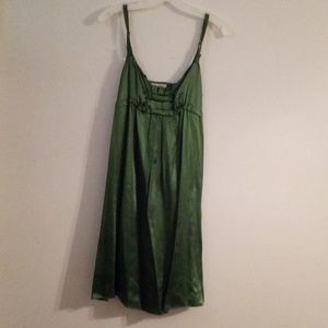 Emerald Green Silk Party Dress. Size Small.
